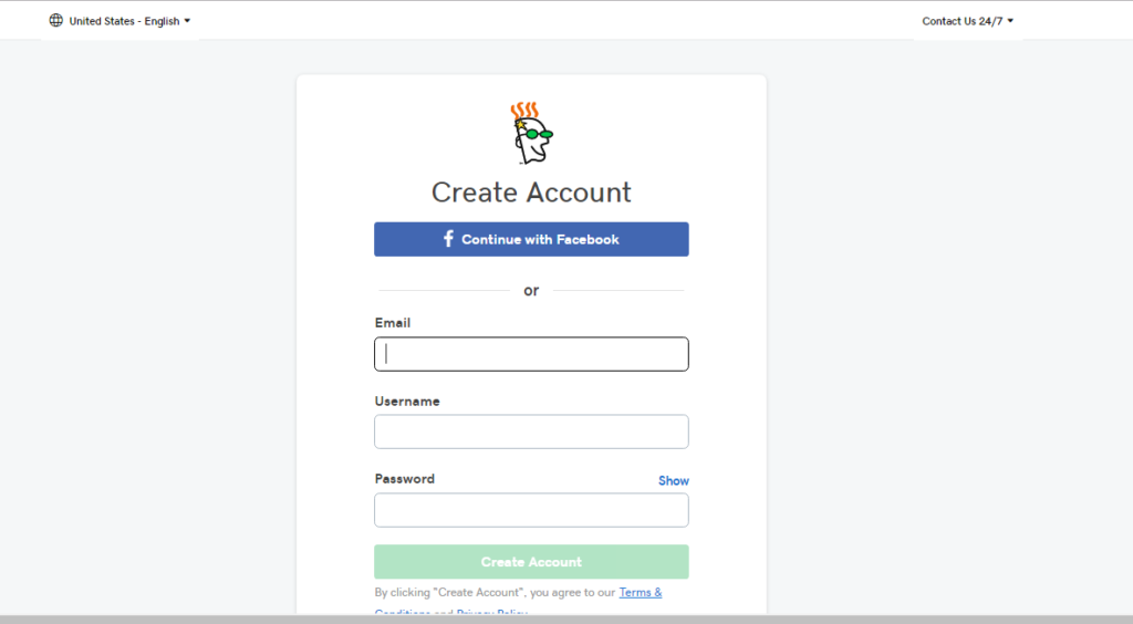 Create an account with a domain registrar